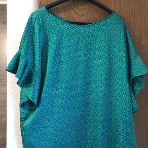 Flutter Sleeve Banana Republic Top